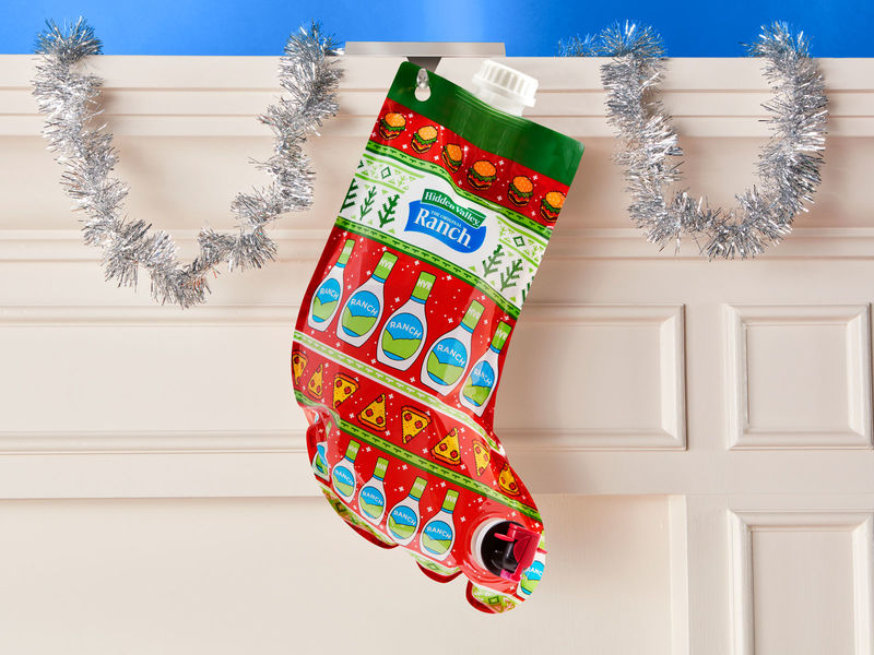 Condiment-Filled Christmas Stockings