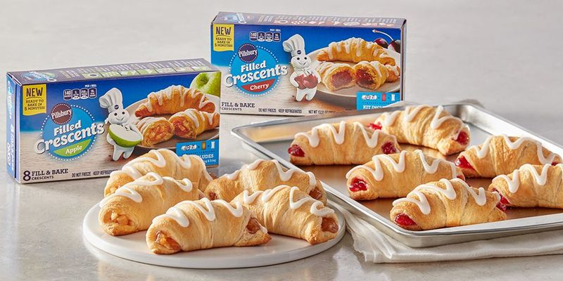 Chilled Fruit-Filled Croissants