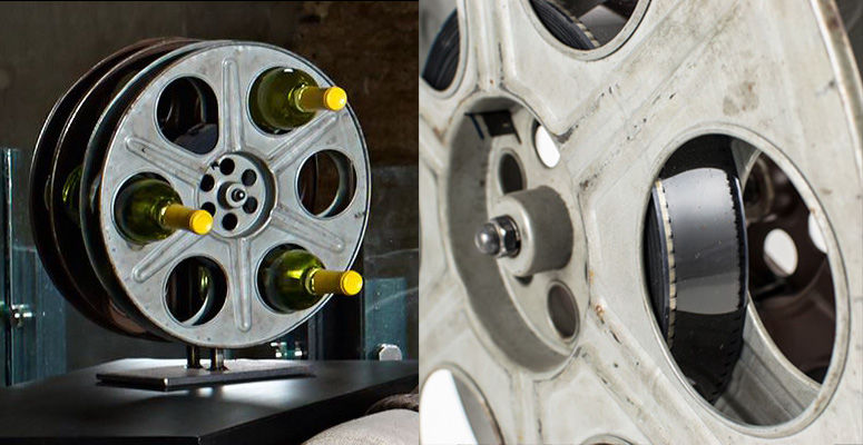 Film Reel Wine Racks