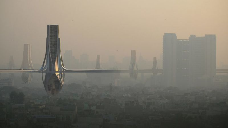 Smog-Absorbing Tower Grids