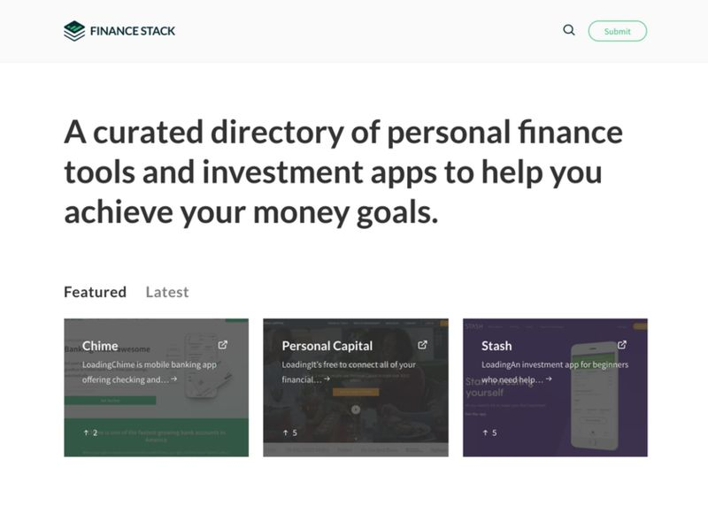 Curated Finance Tool Directories