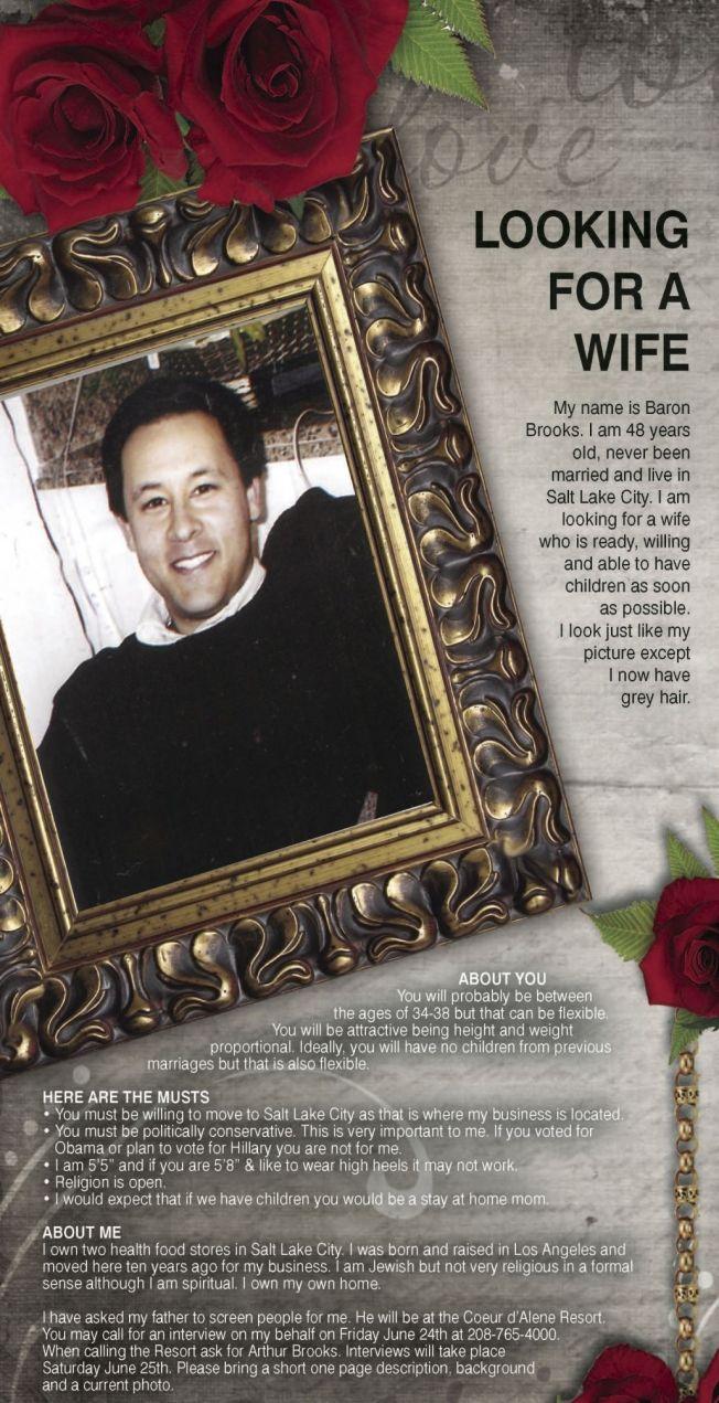 Wife-Seeking Newspaper Ads