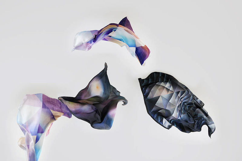 Geometric Silk Scarves