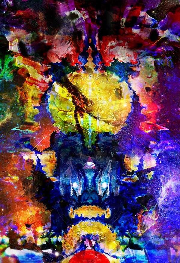 Cosmic Mixed Media Creations