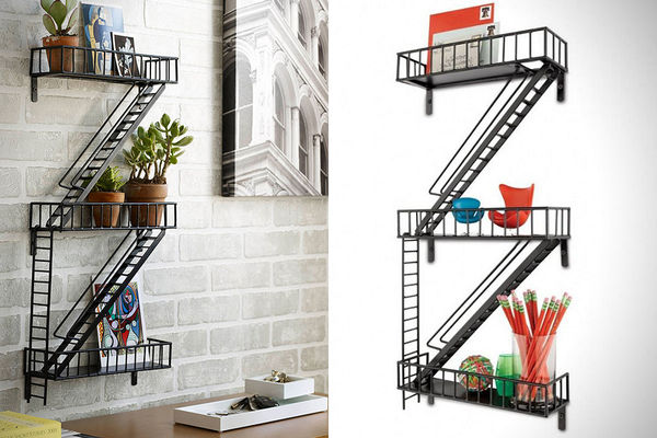 Fire Escape Shelves