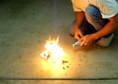 Fire Starting Flashlight