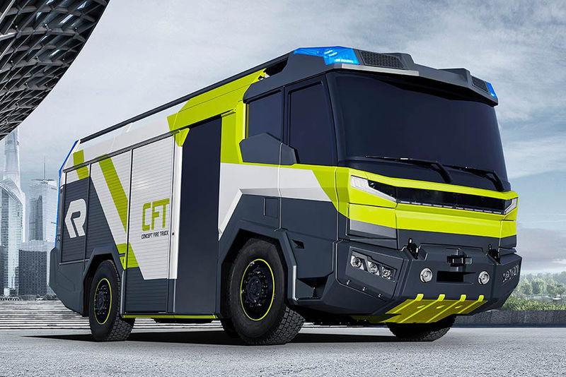 Futuristic Fire Crew Trucks
