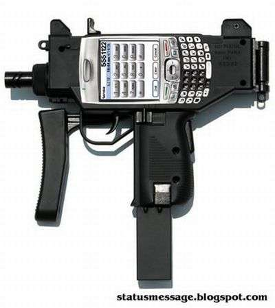 Machine Gun Cell Phones: Uzi Mobile