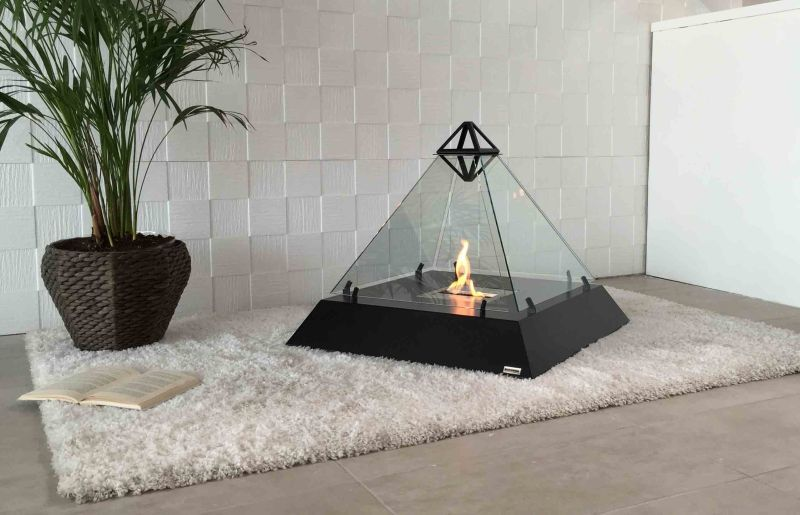 Freestanding Pyramid Fireplaces