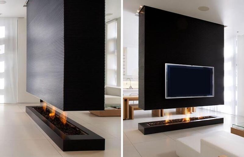 Room-Dividing Fireplaces