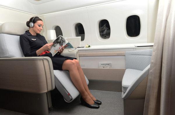 Spacious First Class Seats