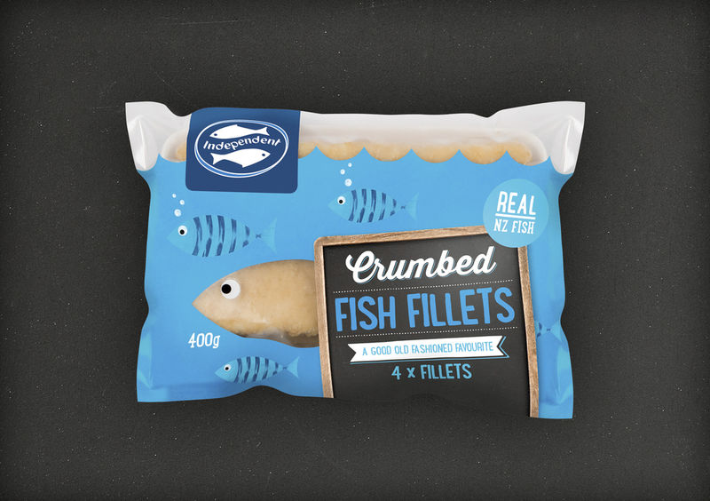 Vibrant Fish Burger Packaging