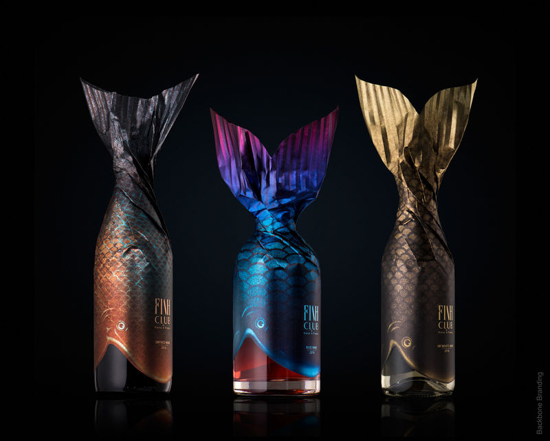 Fish-Inspired Wine Bottles