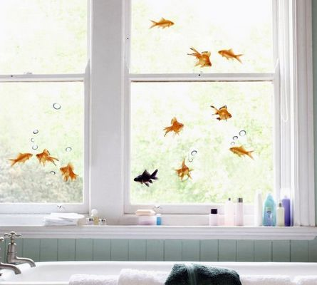 Aquatic-Themed Window Decals