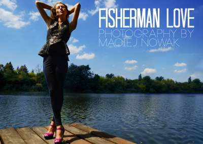 High-Fashion Lakeside Editorials