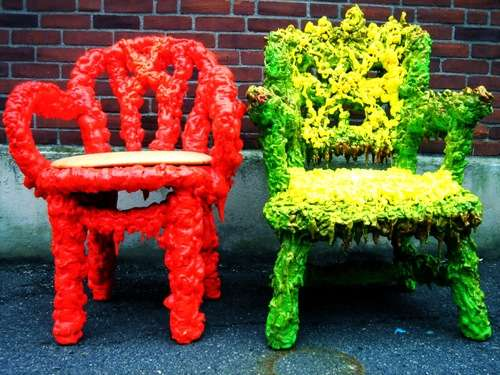 Reclaimed Refuse Seating