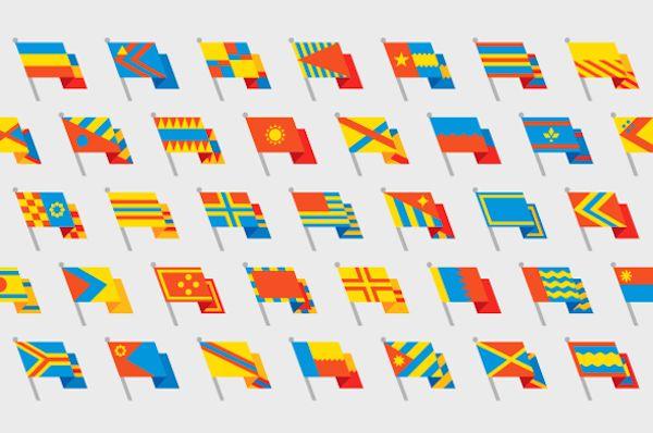 Flag-Building Fonts