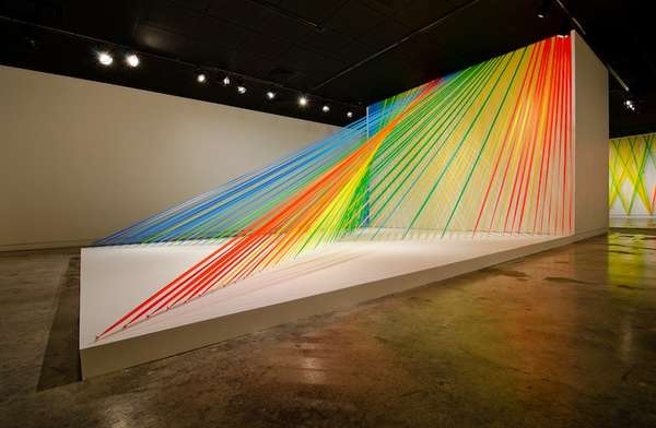 Highlighter Tape Installations Flagging Tape Art