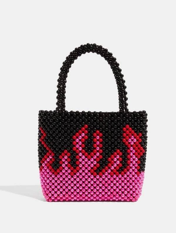 Beaded Flame-Accented Bags