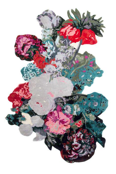 Botanically Abstract Rug Designs