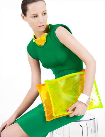 Color-Enriched Accessory Editorials