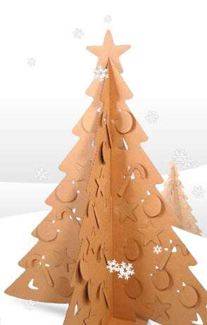 flat pack holiday decor - Cardboard Christmas Decorations
