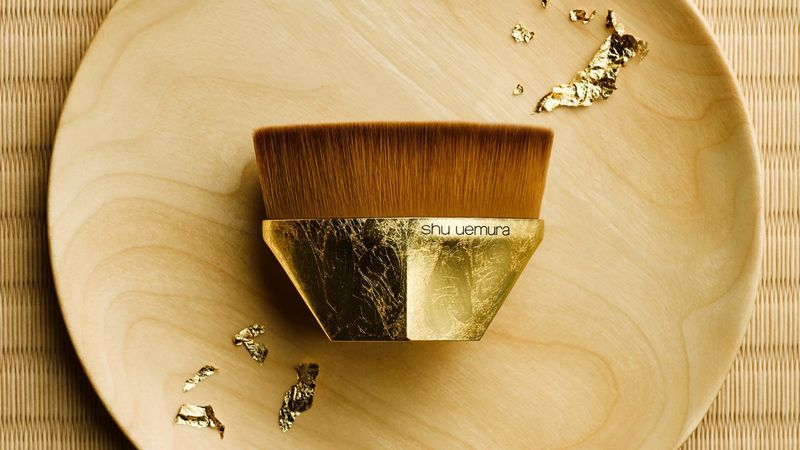 Gilded Makeup Brushes