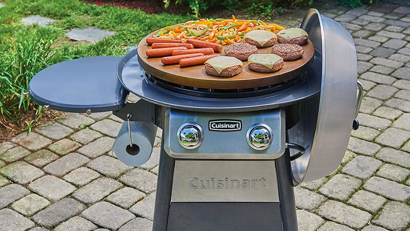 Flat Top Outdoor Grills Grill, Cuisinart Round Flat Top Grill