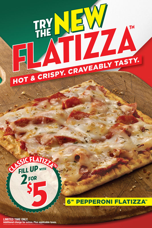 The Flatizza's sodium and cholesterol levels are ridiculously high. You can eat several pieces of Papa John's pizza, that's regular, full-size slices, for less calories, fat, sodium, and cholesterol.
