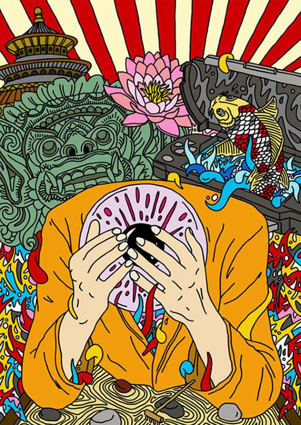 Hypnotic LSD Illustrations