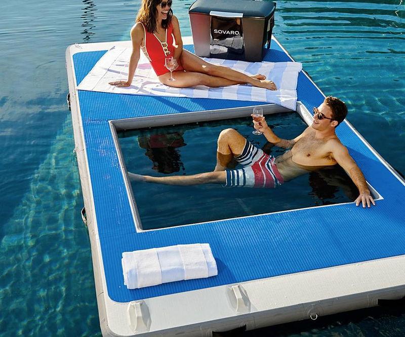 Cutout Aquatic Lounge Platforms