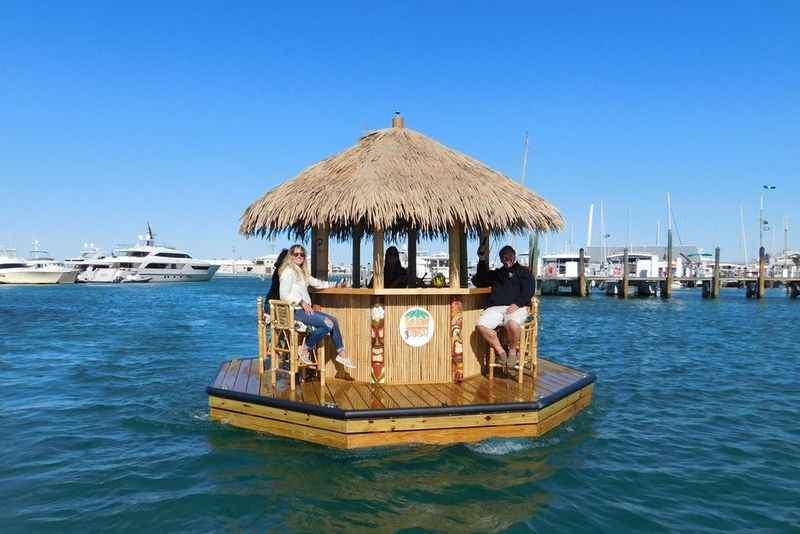 Tropical Floating Tiki Bars