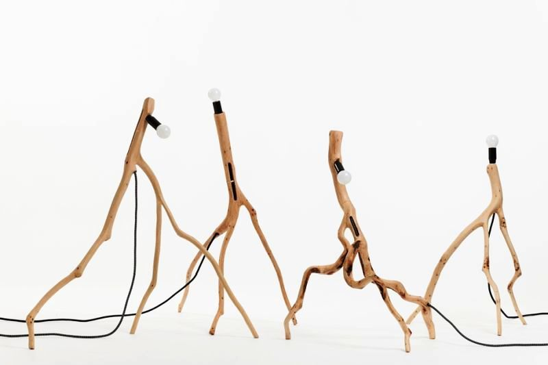 Skeletal Branch Lamps