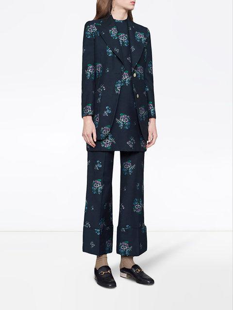 Wool Floral-Printed Suits