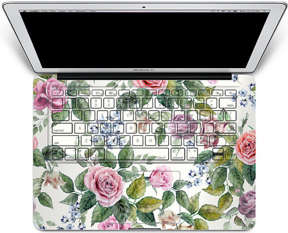 Floral Laptop Decals