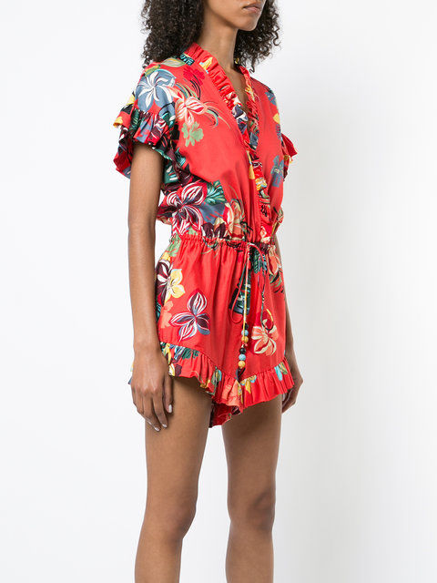 Ruffled Floral Playsuits