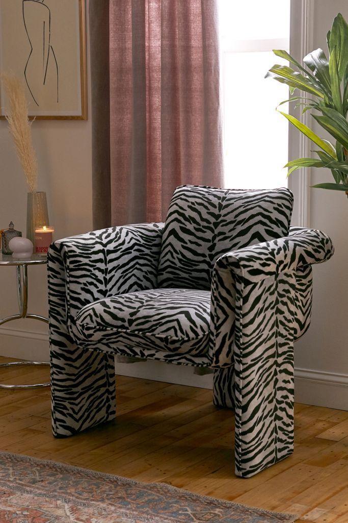 Sculptural Animal Print Seating