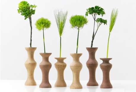 Lumber Bedpost Vases