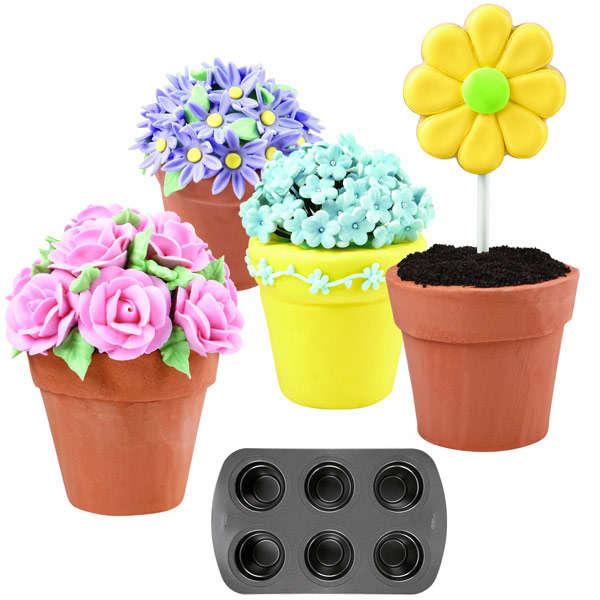 Flower Pot Cake Molds