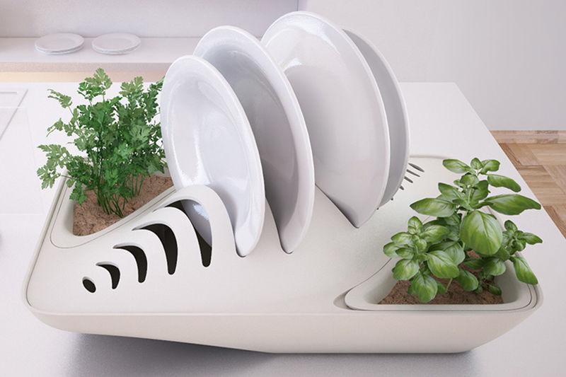 Greenery-Infused Dish Racks