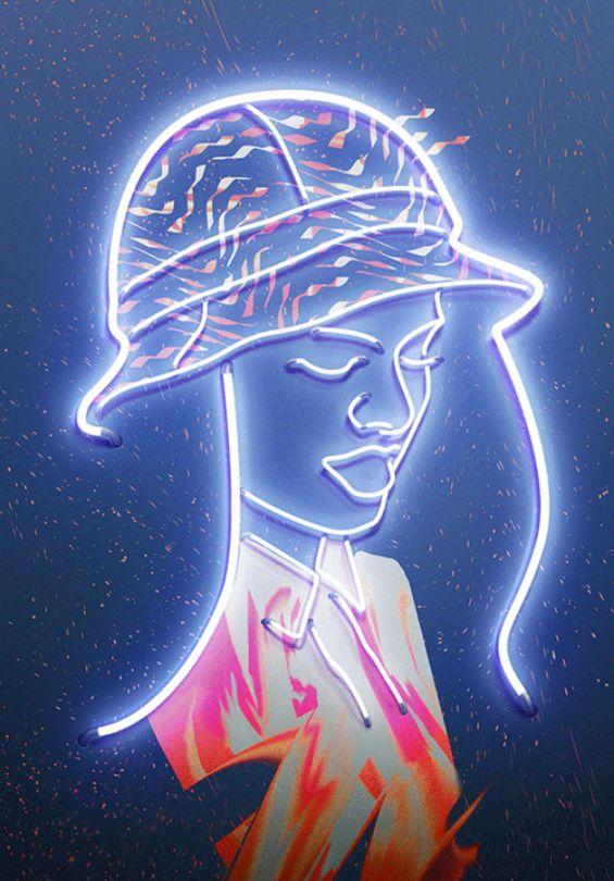 Fluorescent Light Illustrations