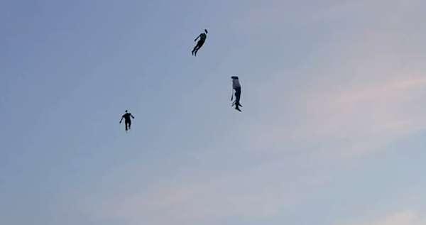 Soaring Human Stunts