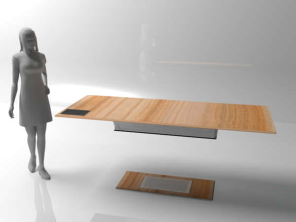 Legless Levitating Tables