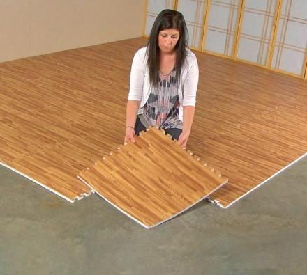 Hardwood Printed Padding Tiles Foam Tiles