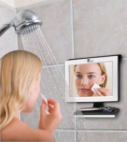 Fantastically Clear Shower Mirrors