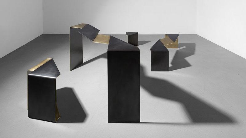 Flattened Steel Furniture