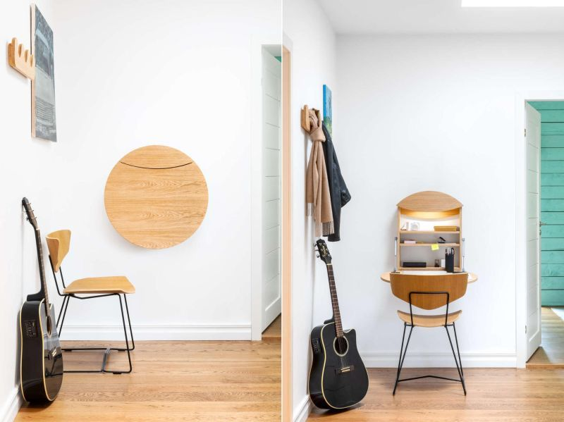 Well-Equipped Wall-Mounted Desks