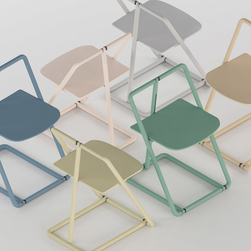 Modern Skeletal Folding Chairs