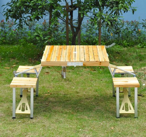 Folding Suitcase Picnic Tables