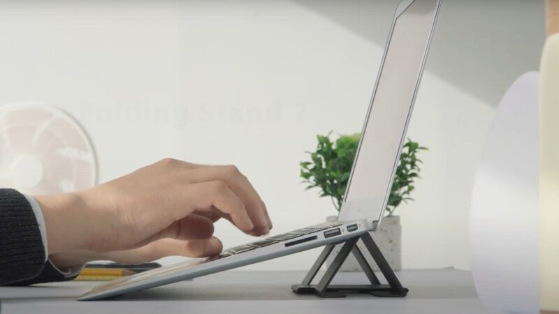 Noninvasive Laptop Stand Supports